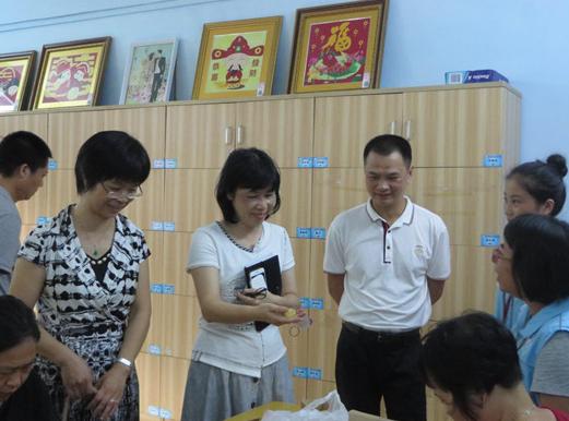 道滘镇党委委员刘转南及社会事务局一行莅临横沥康就中心参观指导